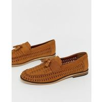 woven loafers in tan - tan marki River island