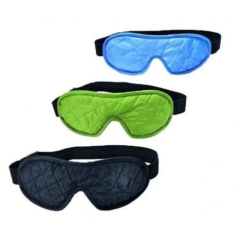 Opaska na oczy + stopery eye shades de luxe - light blue/grey marki Cocoon