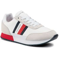 Sneakersy - corporate mix flag runner fm0fm02601 white ybs, Tommy hilfiger, 40-46
