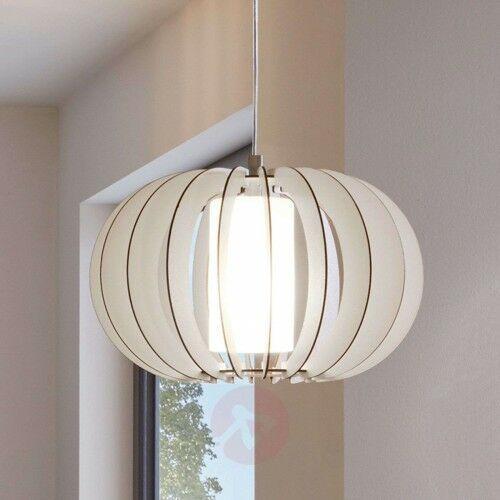 Lampa wisząca stellato, drewniany klosz, 40 cm marki Eglo