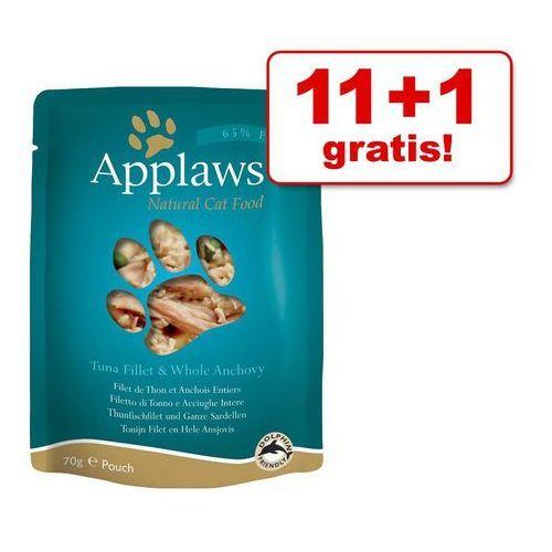 Applaws 11 + 1 gratis! selection, 12 x 70 g - tuńczyk i sardele (5060122491921)