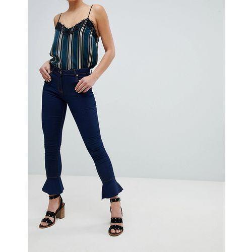 Parisian Skinny Jeans with Flare Hem - Blue, skinny