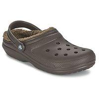 Chodaki Crocs CLASSIC LINED CLOG, kolor brązowy