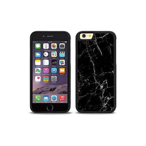 Apple iphone 6s - etui na telefon aluminum fantastic - czarny marmur marki Etuo aluminum fantastic