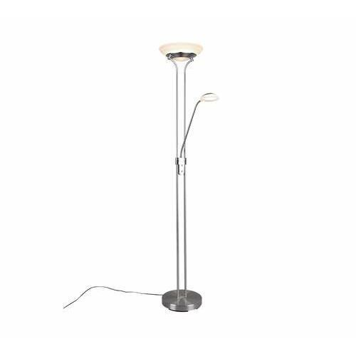 Trio rl orson r40073507 lampa stojąca podłogowa 1x27w+1x4,5w led niklowa/kremowa