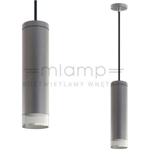 LAMPA wisząca ARIES LP-8599 TIT Light Prestige metalowa OPRAWA tuba LED 7W zwis szay, kolor Szary
