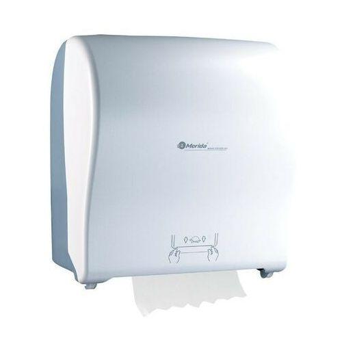 Mechaniczny podajnik ręczników papierowych w roli solid cut automatic maxi- biały połysk marki Merida