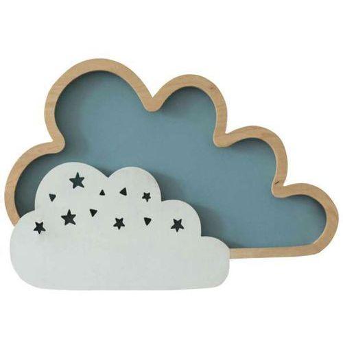 Milagro Dziecięca lampa ścienna cloud 0542 drewniana oprawa do pokoju dziecięcego led 8w chmura (1000000353549)