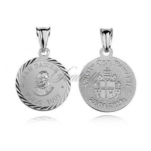 Srebrny medalik papież święty jan paweł ii - md161 marki Sentiell