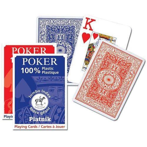 Piatnik Karty do gry poker 1 talia duże indeksy (9001890136115)