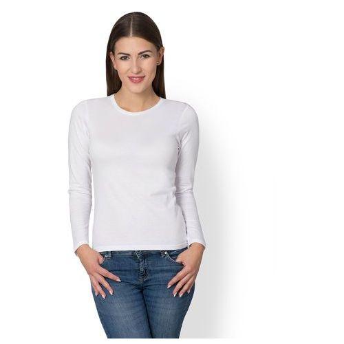 Megakoszulki Damska koszulka z długim rękawem (bez nadruku, gładka) - biała
