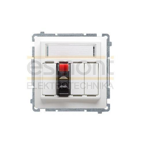 Kontakt Simon Basic moduł Gniazdo głośnikowe pojedyncze biały BMGL31.01/11 (5902787560126)