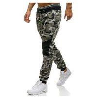 Spodnie męskie dresowe moro-szare denley kk07, J.style