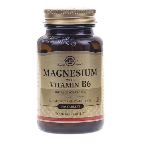 Solgar Magnez z witaminą B6 - 100 tabletek