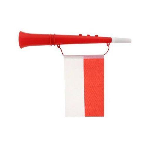 Go Trąbka kibica z flagą biało - czerwoni - 1 szt.