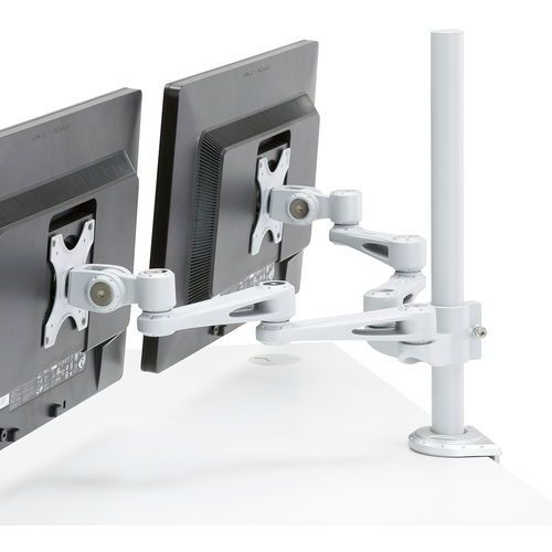 Uchwyt na 2 monitory srebrny (obc. 8kg/ramię) marki Aj
