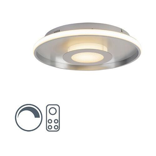 Lampa sufitowa aluminium w tym LED z pilotem - Oculus