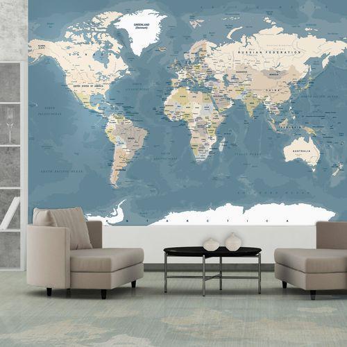 Fototapeta - mapa świata vintage marki Artgeist