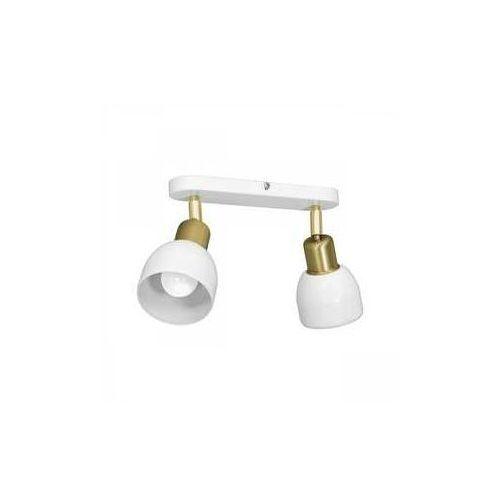 Luminex fresno 3226 plafon lampa sufitowa spot 2x60w e27 biały/złoty (5907565932263)