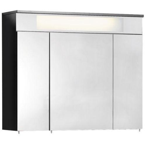 Szafka lustrzana 3d - 80 cm z kolekcji kara antracyt z oświetleniem led marki Fackelmann