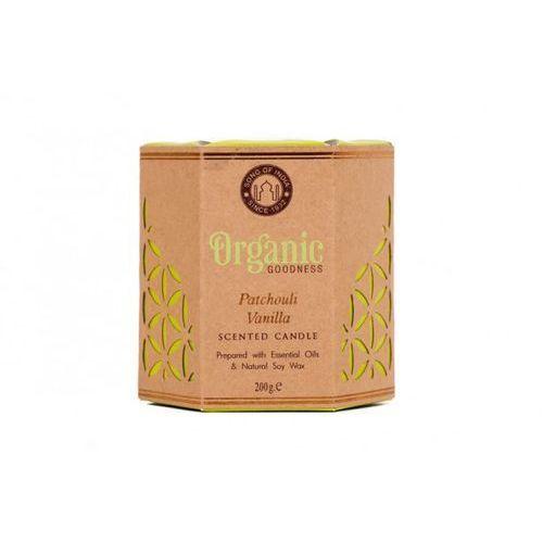 sojowa świeca zapachowa - patchouli vanilla 200g marki Song of india