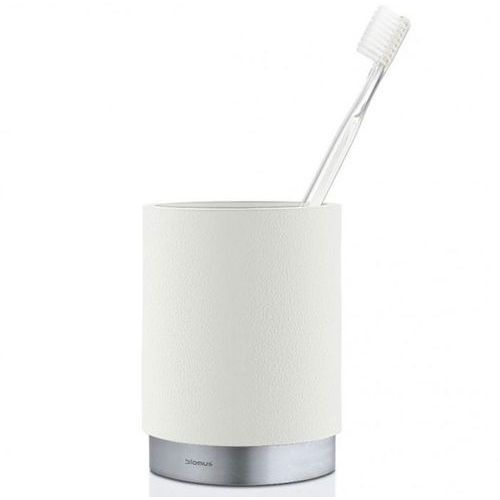 Kubek łazienkowy ARA Blomus stal nierdzewna matowa + polystone biały, B68852