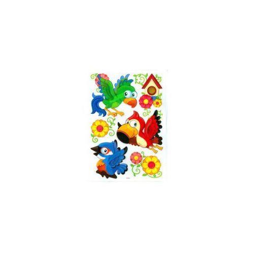 Small foot Naklejki 3d na ścianę dla dzieci papugi
