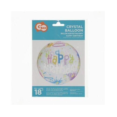 Balon kryształowy happy birthday świece