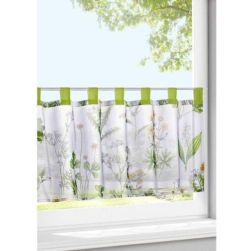 Bonprix Zazdrostka z nadrukiem z motywem traw biało-zielony