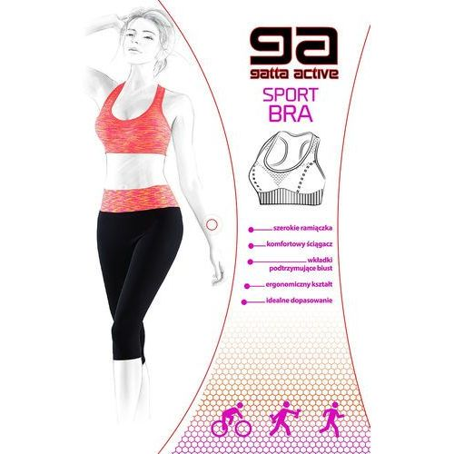Biustonosz sportowy 43480 sport bra m, fioletowy/purple melange, gatta marki Gatta