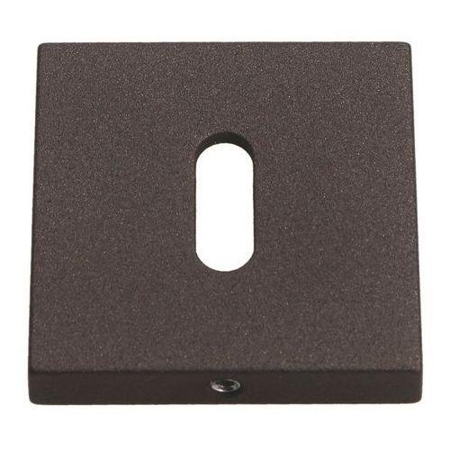 Szyld drzwiowy kwadratowy na klucz grafitowy strukturalny marki Gamet