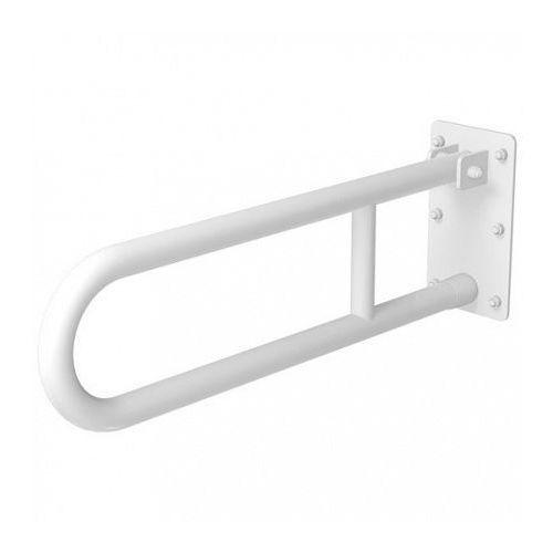 Poręcz uchylna dla niepełnosprawnych 800 mm biała
