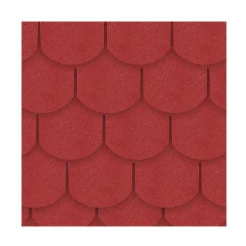 Gont bitumiczny KARPIÓWKA Czerwony 3 m2 IZOLMAT (5903874203513)