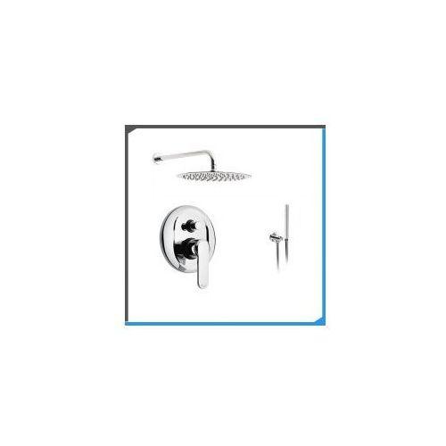 Zestawy Podtynkowy zestaw prysznicowy z emmevi nefer 77019, chrom zest183