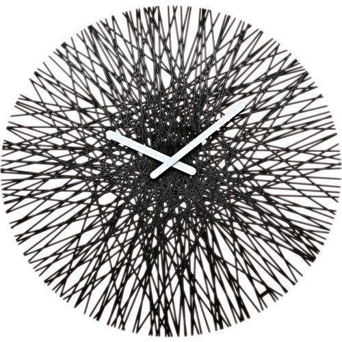 Zegar ścienny czarny Silk, kolor czarny