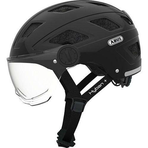 ABUS Hyban + Kask rowerowy Visor clear czarny L | 56-63cm 2018 Kaski rowerowe (4003318727641)