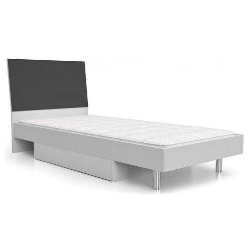 Łóżko z pojemnikiem na pościel kormi 90x200 - popiel marki Producent: elior