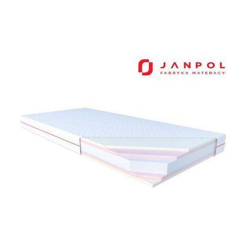 Janpol hebe - materac piankowy, rozmiar - 90x200, pokrowiec - spin wyprzedaż, wysyłka gratis (5906267402043)
