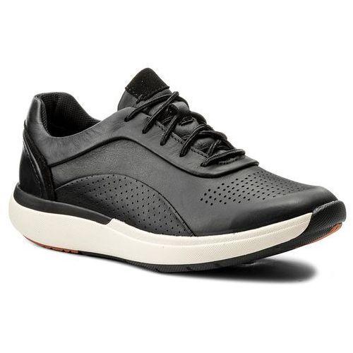 Sneakersy - un cruise lace 261326844 black leather 035 marki Clarks
