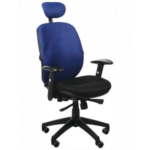 Fotel biurowy gabinetowy kb-912/a/niebieski - krzesło obrotowe marki Stema - kb
