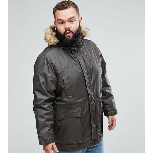 Duke King Size Parka Jacket In Khaki - Green