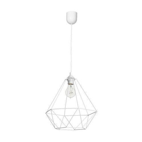 Lampa wisząca oprawa druciana zwis alambre 1x60w e27 biała 1109 marki Milagro