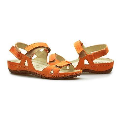 Sandały 205 pomarańczowe lico marki Helios