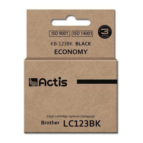 Tusz KB-123BK Black do drukarek Brother (Zamiennik Brother LC123BK) [15ml] - z chipem