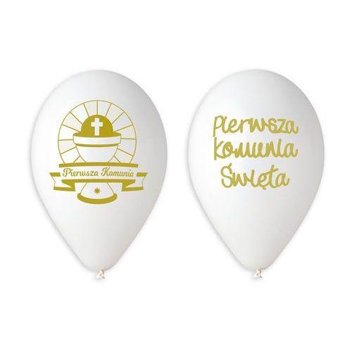 Twojestroje.pl Balon biały pierwsza komunia 30cm 1szt