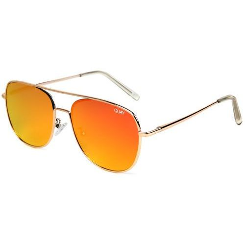 Okulary Słoneczne Quay Australia QU-000149 RUNNING RIOT GOLD/RED, kolor żółty