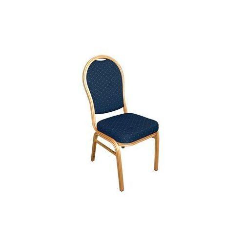Krzesło bankietowe z oparciem owalnym | niebieskie lub czerwone | 440x470x(H)940mm | 4szt.