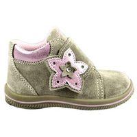 buty dziewczęce za kostkę 22 jasnobrązowy marki Primigi