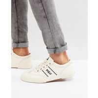 Polo ralph lauren tarrence trainers leather in off white - white