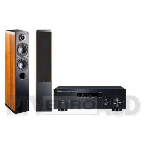 Yamaha MusicCast R-N303D (czarny), Indiana Line Nota 550 X (orzech) (0000001133200)
